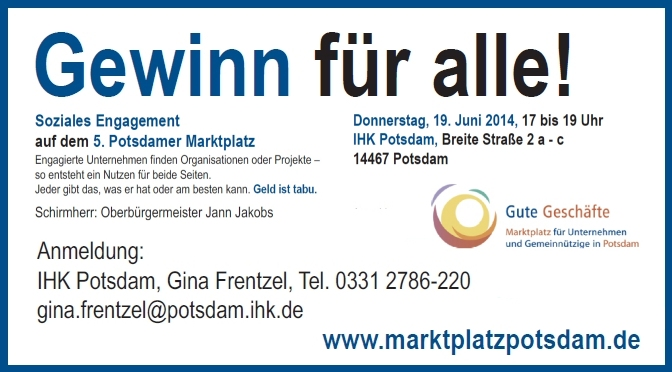 5. Engagement Marktplatz Potsdam 2014 (quer)