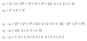 Herleitung am Beispiel der Zahlen bis 3