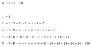 Herleitung des Algorithmus zur iterativen Berechnung von Fakultäten