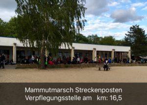 Mammutmarsch 2016 - erster Verpflegungspunkt im Strandbad Müggelsee