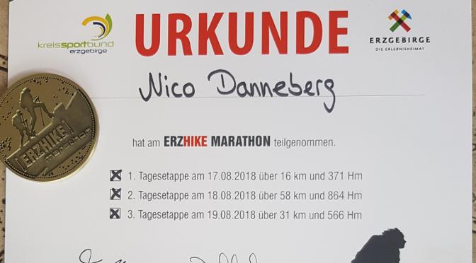 ERZHIKE 2018 - meine Urkunde