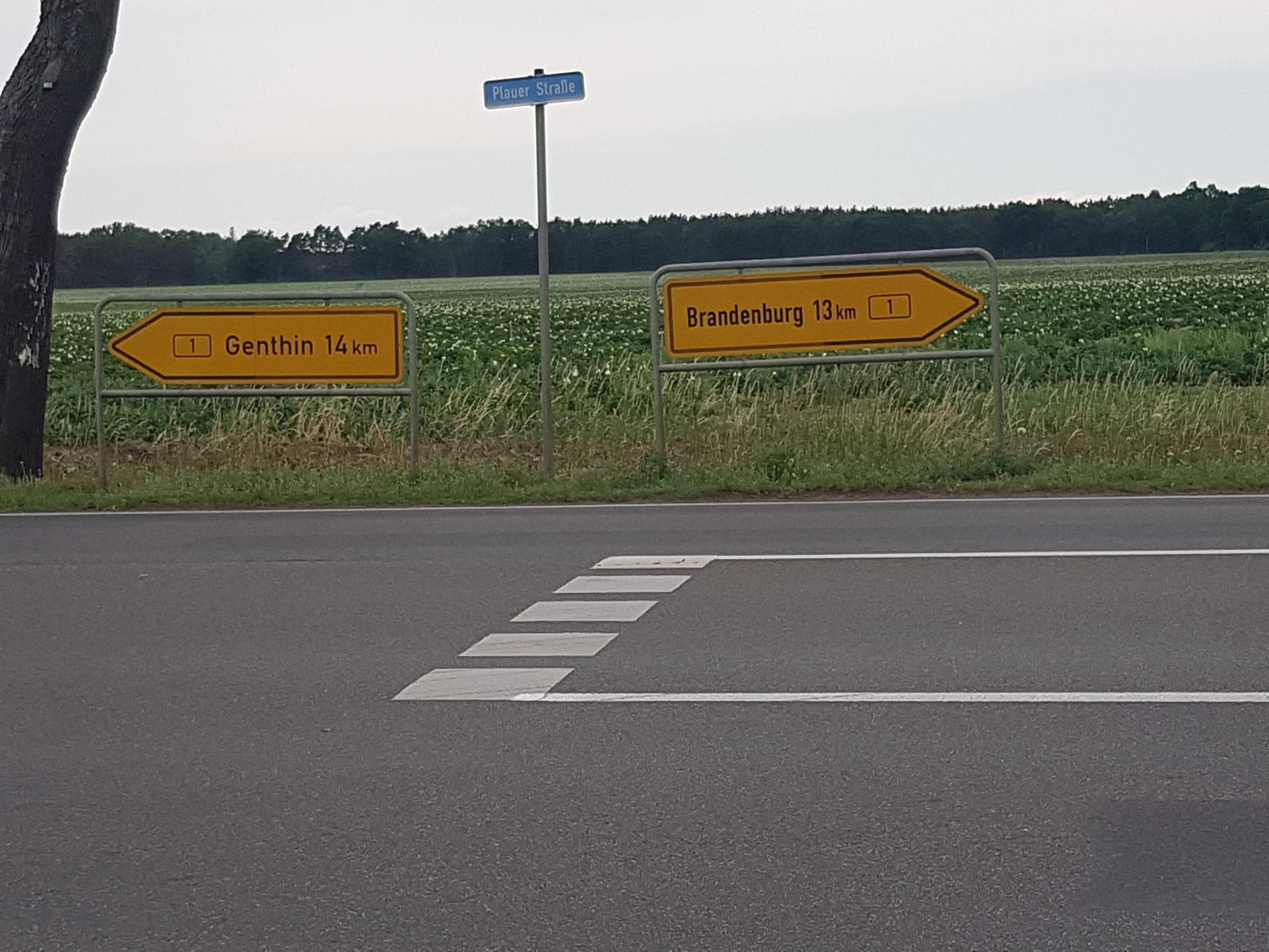 Die Mitte zwischen Genthin und Brandenburg